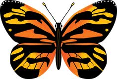 Fjärilsvektorillustration Arkivbild