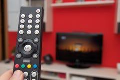 Fjärrkontroll av TV royaltyfri bild