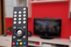 Fjärrkontroll av TV royaltyfri fotografi