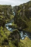 Fjaðrárgljúfur Canyon in Iceland stock photo