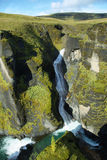 Fjadrargljufur峡谷 免版税库存图片