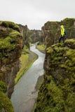 Fjadrargljufur Canyon Stock Photography