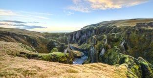 Fjadrargljufur Canyon, Iceland Stock Images