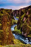 Fjadrargljufur Canyon in Iceland Royalty Free Stock Photos