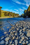 Fjadrargljufur Canyon in Iceland Stock Photography
