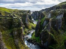 Canyon, Iceland stock photo
