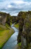 Fjadrargljufur Canyon in South Iceland royalty free stock photography