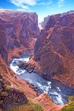 Fjadrargljufur gorge on Iceland Royalty Free Stock Photo