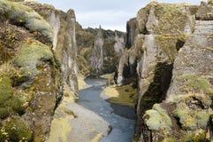 Fjadrargljufur kanjon Arkivbilder
