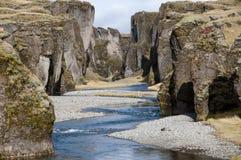 Fjadrargljufur kanjon Arkivbild