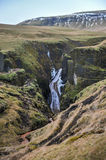 Fjadrargljufur kanjon, Island Royaltyfri Foto