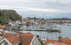 Fjallbacka村庄在瑞典 库存图片
