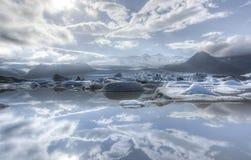 Fjallsarlon冰山湖 库存图片
