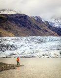 Fjallsarlon冰川盐水湖 免版税图库摄影