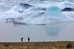 Fjallsarlon,冰岛 免版税库存图片