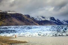 Fjallsarlon glaciärlagun Arkivfoton