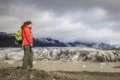 Fjallsarlon glaciärlagun Royaltyfri Fotografi