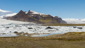 Fjallsarlon glacier lake. In southern Iceland royalty free stock photography