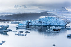 Fjallsarlon iceberg lake Royalty Free Stock Photography