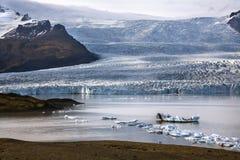 Fjallsjokull-Gletscher - Island Lizenzfreie Stockfotografie