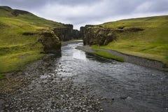 Fjarrgljfur jar w południowym Iceland Zdjęcie Royalty Free