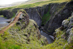 Fjathrargljufur Canyon, Iceland Stock Photography