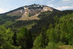 Fjädra landskapet i nationalparken Sumava, Tjeckien Fotografering för Bildbyråer