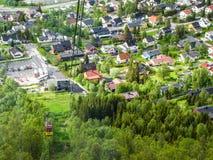 Fjellheisen, teleférico de Tromso Imagens de Stock