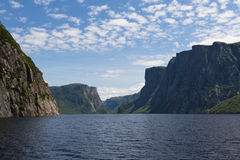 Fjord. View over the fjord-like Western Brook Pond, Newfoundland Royalty Free Stock Photos