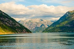 Fjord. Norwegian fjord and mountains. Norway Stock Image