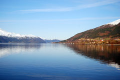 Fjord Royalty Free Stock Photos