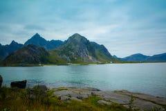 Fjord afrer sunset Royalty Free Stock Images