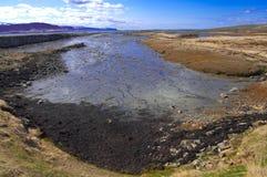 Fjord bei Ebbe Lizenzfreie Stockbilder