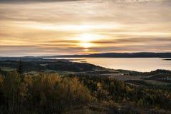 Fjord. Beitstadfjord seen from Oftenaasen in Steinkjer Stock Images