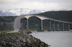 Fjord bridge norway Royalty Free Stock Images