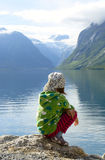 On a fjord coast Royalty Free Stock Images
