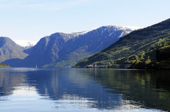 Fjord Lake Scenery, Norway Stock Images