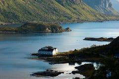 Fjord-Dämmerung Stockfoto