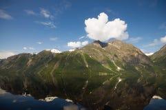 Fjord dans Eikesdal Photos libres de droits