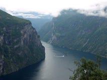 Fjord de Geirange Images libres de droits