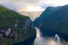 Fjord de Geiranger Photographie stock libre de droits