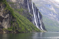 Fjord de Geiranger Photos libres de droits