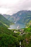 Fjord de Geiranger foto de stock royalty free
