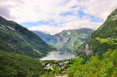 Fjord de Geiranger Imagens de Stock Royalty Free