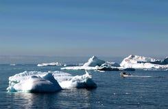 Fjord de glace d'Ilulissat près d'Ilulissat en été Photographie stock libre de droits