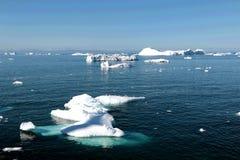 Fjord de glace d'Ilulissat près d'Ilulissat en été Image stock
