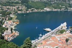 Fjord de Kotor Fotos de Stock