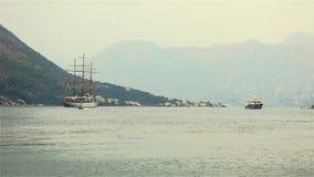 Fjord de Kotor banque de vidéos
