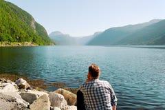 Fjord de la Norvège. Image libre de droits
