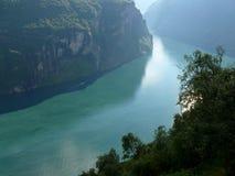 Fjord de Noruega Geiranger Fotografia de Stock Royalty Free